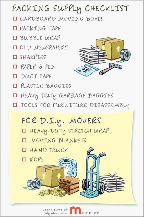 Create a Moving Materials Checklist Creating a checklist can help - creating checklist