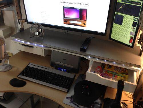 Split level jerker desk ikea hackers