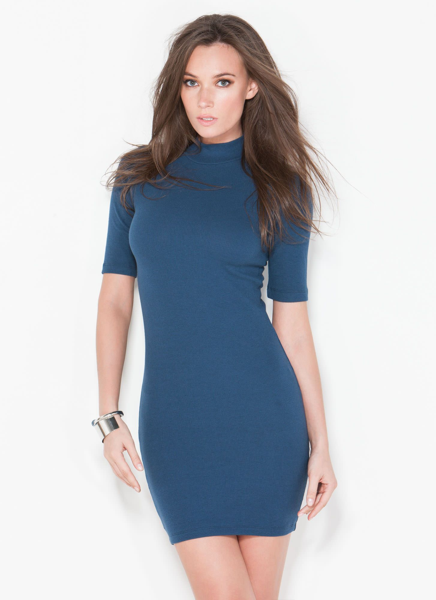 Ribbed For My Pleasure Mockneck Dress GoJane.com | Dresses ...