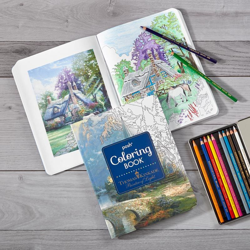 Color Along With The Master Thomas Kinkade Renowned Painter Of