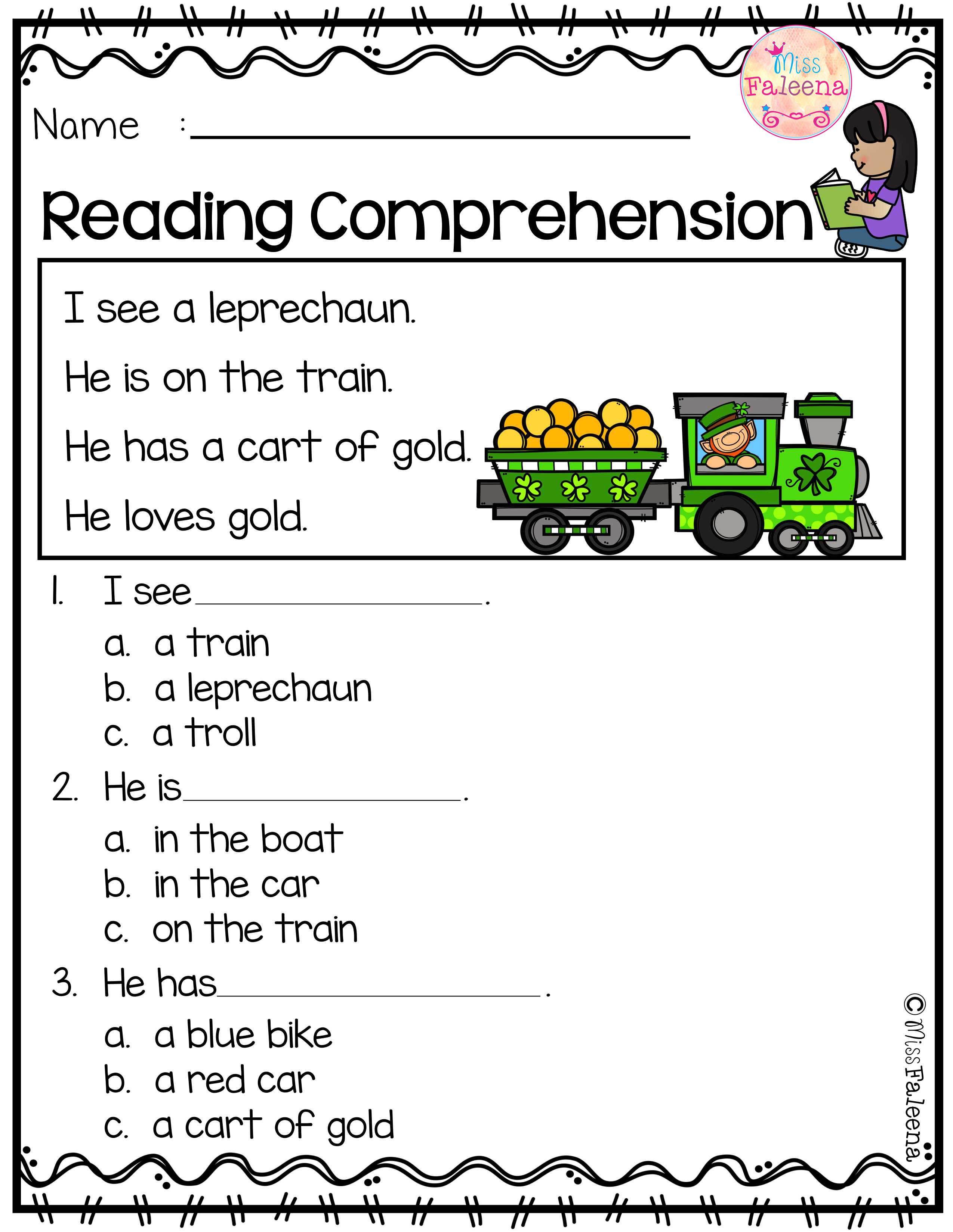 March Reading Comprehension | lesson plans | Pinterest