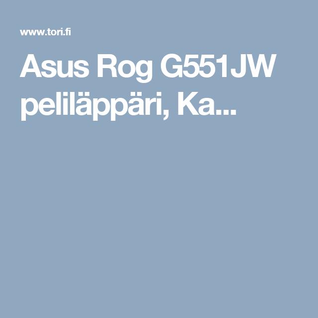 Asus Rog G551JW peliläppäri,                 Ka...