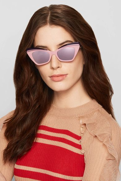 Babou Blush Cat-Eye Acetate and Metal Sunglasses Karen Walker mGuOyWS
