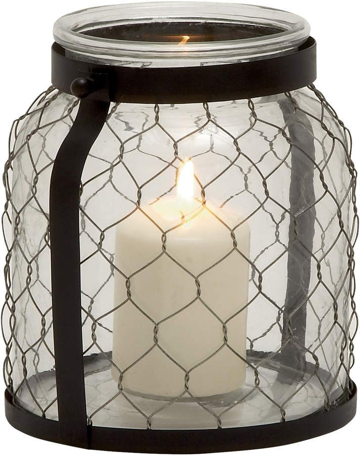 Wide mouthed Farmhouse Lantern with chicken wire. #ad ...