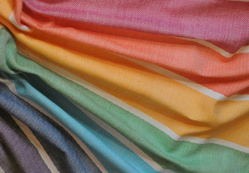 Girasol rainbow herringbone weave wrap woven wrap cloth
