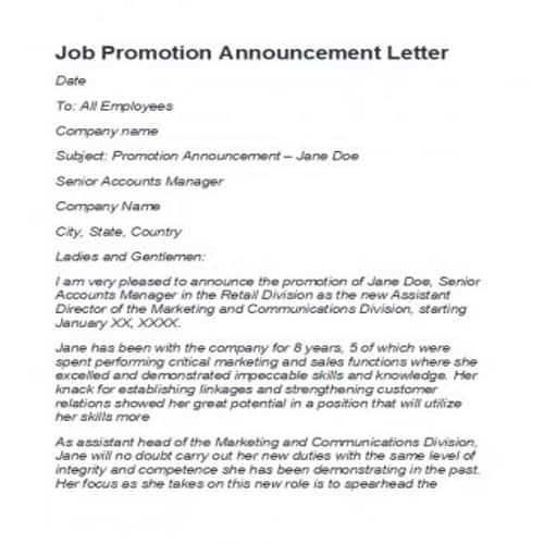 35 editable job promotion letter templates in 2020 cv format for student pdf great career objective resume engineering internship sample