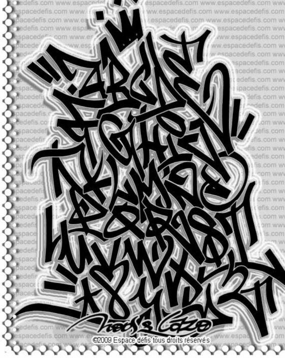 Graffiti Alphabet Letter A Z Tag Graffiti Throw Up Hip Hop