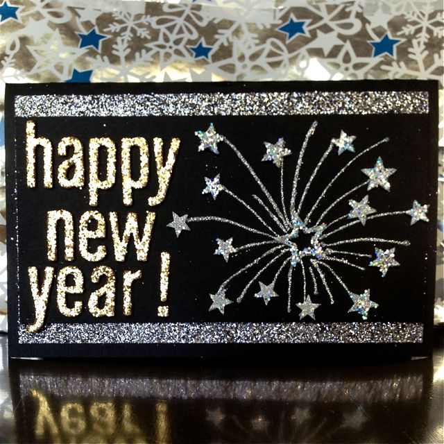 happy new year card by teske goldsworthy teske goldsworthy klapstein for she used crafty foam tape and foam stars with glitter