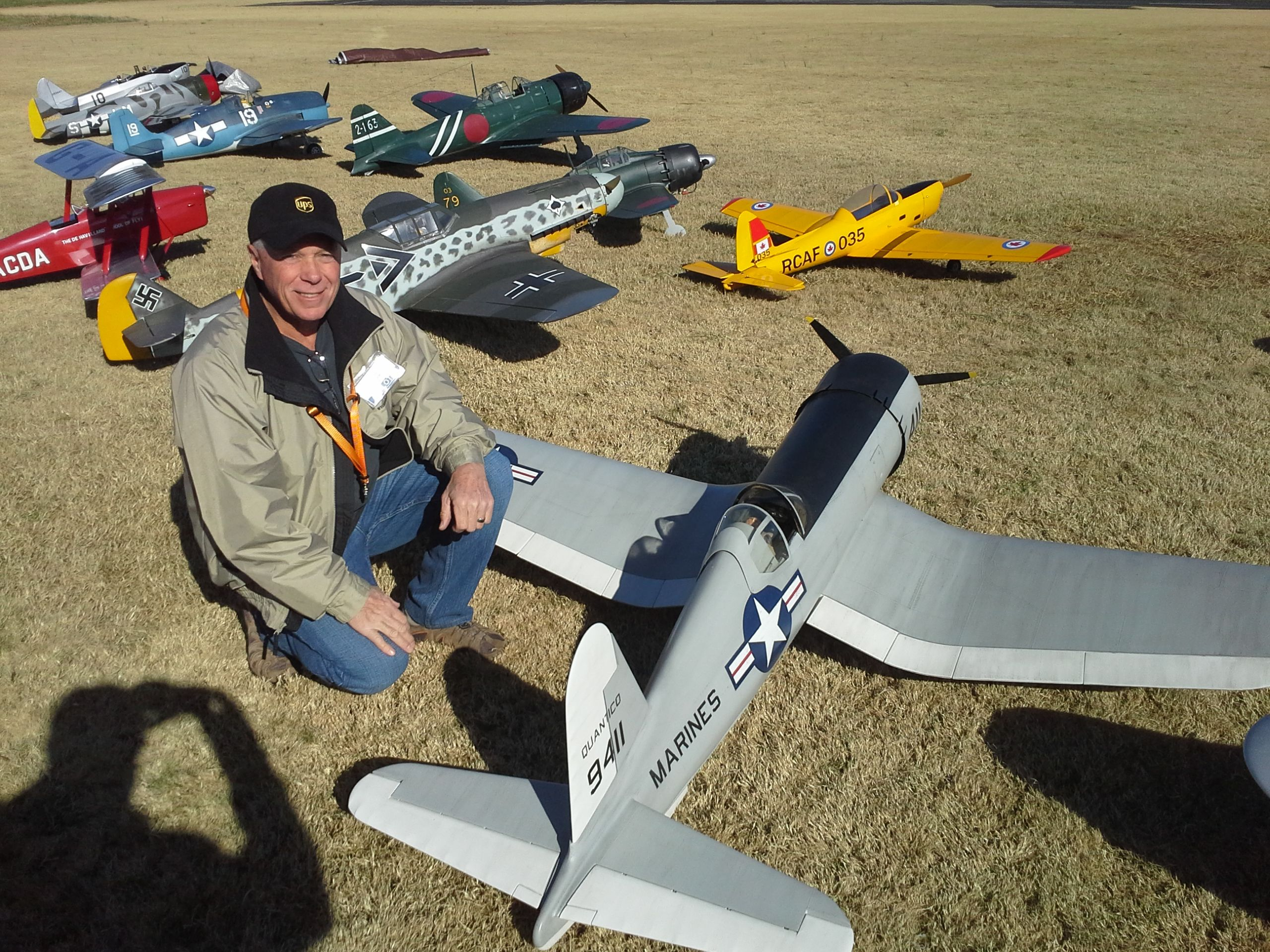 Jimmy Davis and his beautiful Corsair.