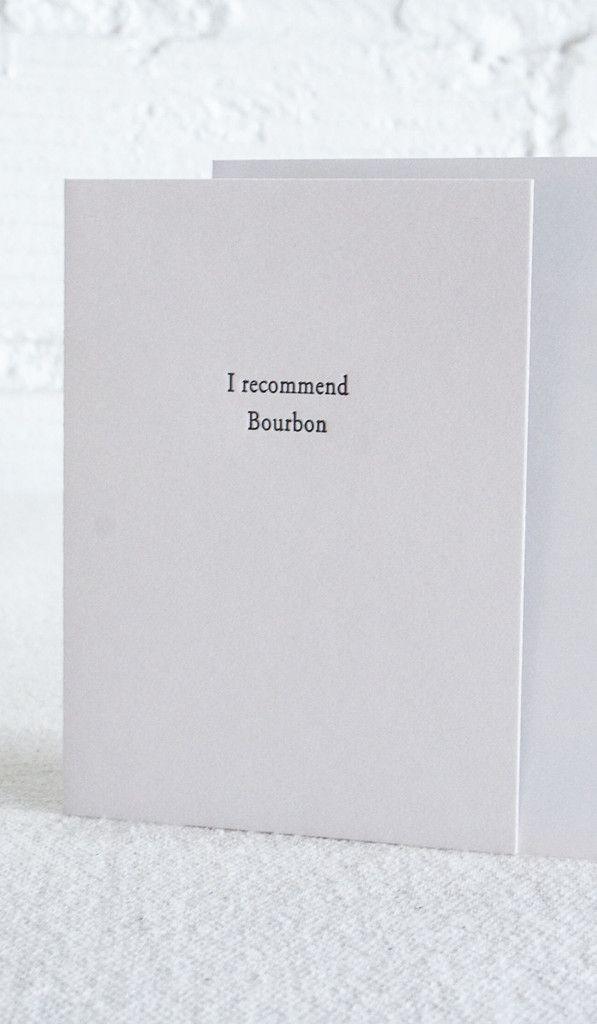 Bourbon Letterpress Card Letterpress Cards Letterpress Greeting Cards Letterpress