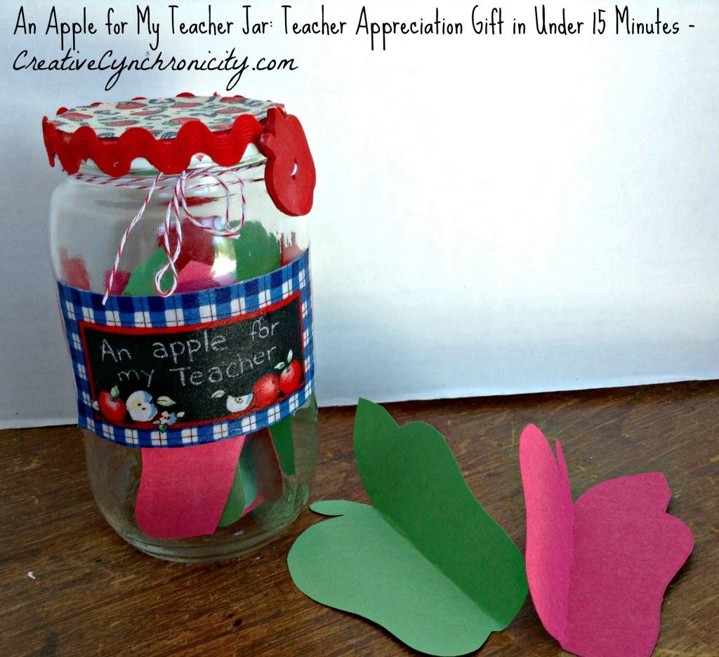 Apple for the teacher appreciation gift craft lightning edition