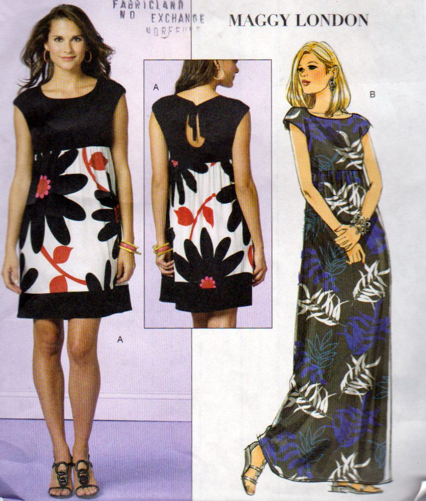 Very Easy Keyhole Dress Pattern Butterick 5456 Long Or Short Summer Dress Sizes 8 10 12 14 Maggie London Loose Fitting Pullover Dress Simple Dress Pattern Butterick Dress Patterns Keyhole Dress Pattern [ 1013 x 863 Pixel ]