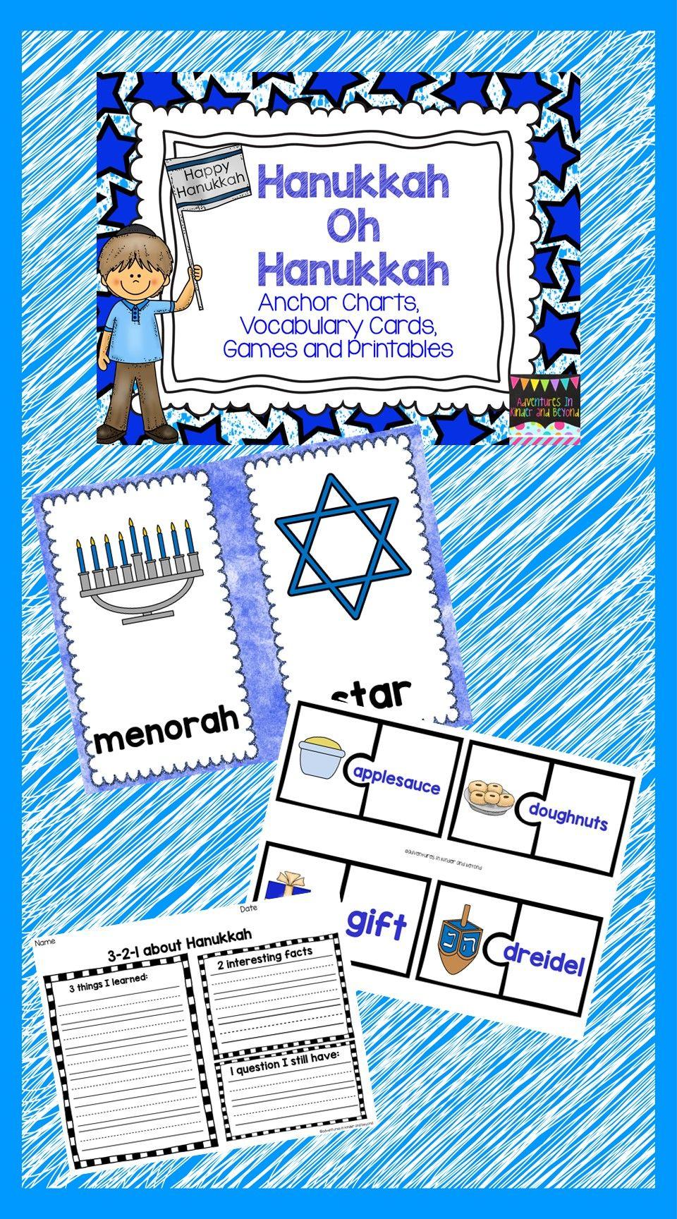 Hanukkah Mini Unit Christmas Teaching Resources Hanukkah Anchor Charts [ 1728 x 960 Pixel ]