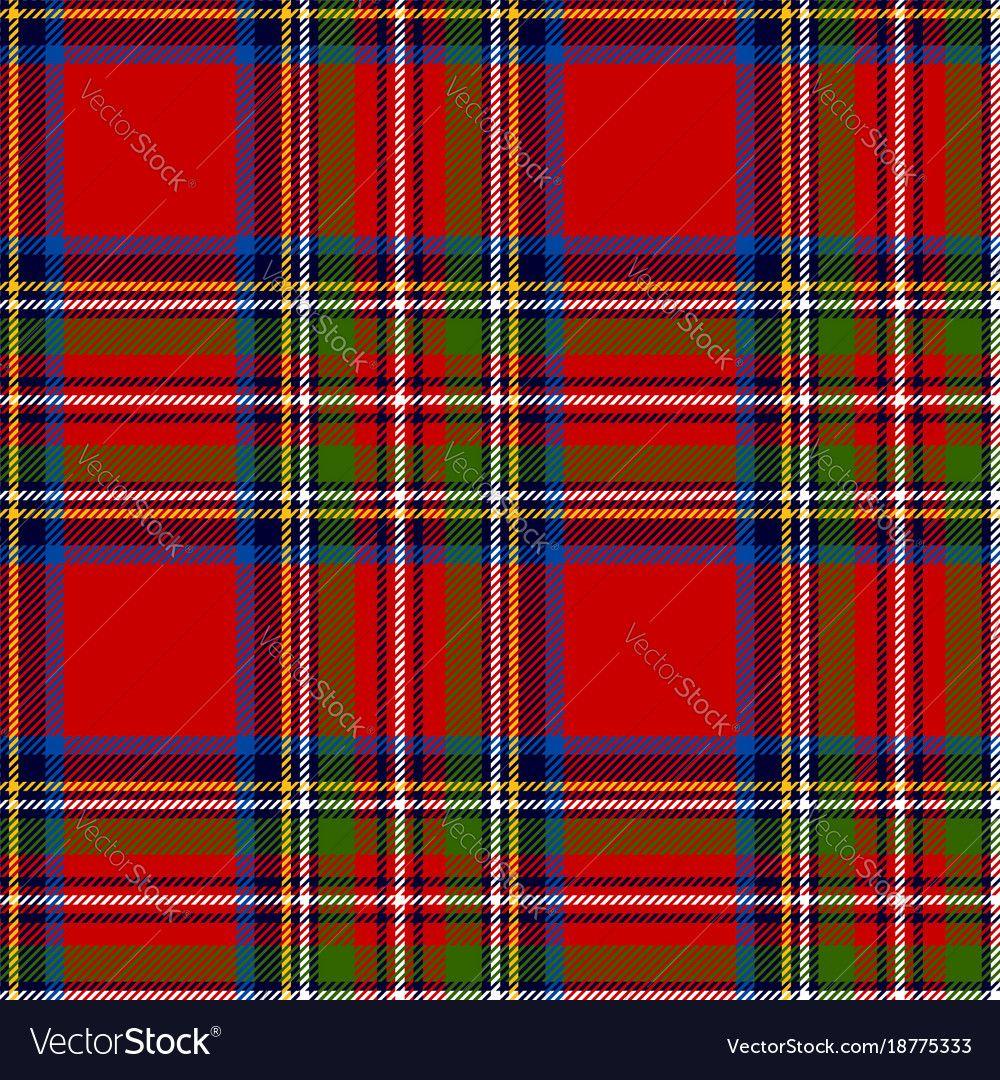 Scottish plaid royal stewart tartan Royalty Free Vector