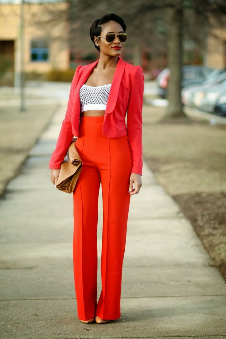Style Tips Every Tall Girl Should Know | Red trousers