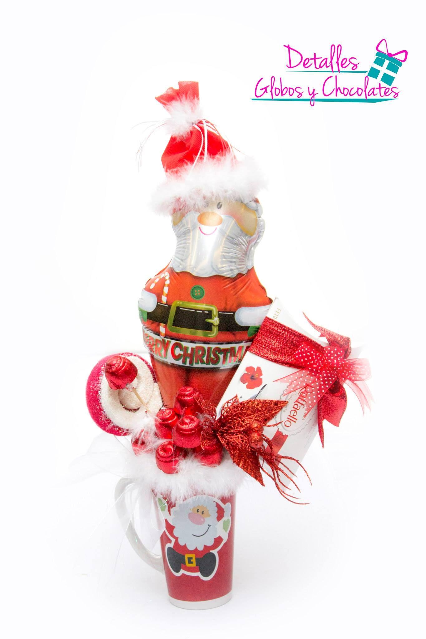 Taza navide a arreglos navide os con dulces y globos - Ideas de arreglos navidenos ...