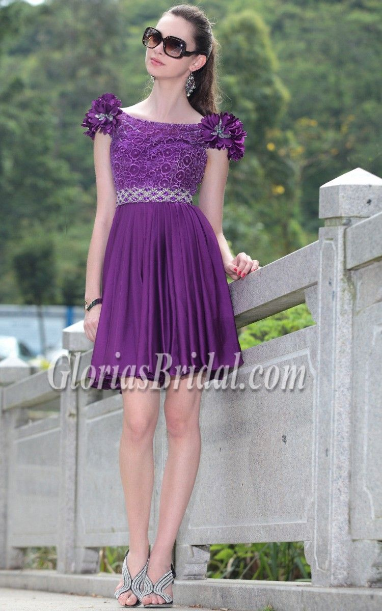 Cute Purple Mini Dress | All kinds of delicious cake | Pinterest