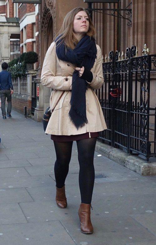 short skirt on the streets