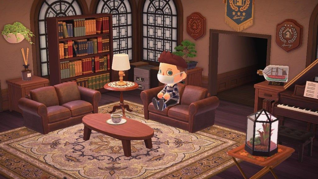 Very happy with how my living room turned out ... on Animal Crossing Room Ideas New Horizons  id=82050