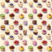 Spoon flower cakes de Danielle Chanson