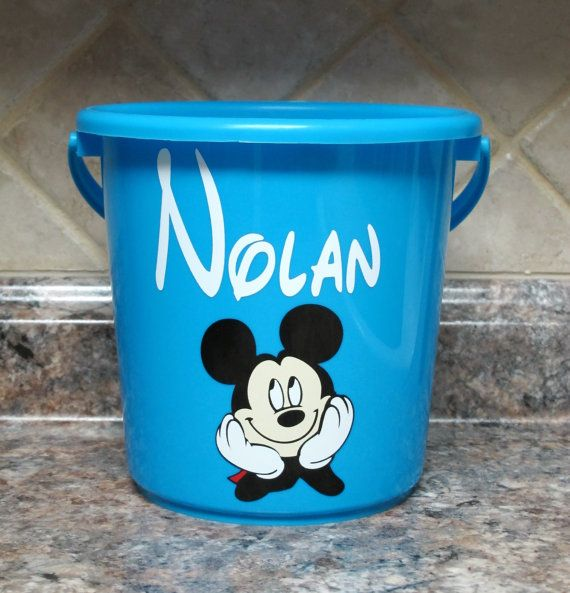 Personalized Mickey Mouse Party Favor Bucket By