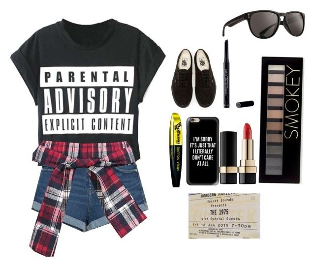 """""""Will sell soul for concert tickets"""" by queenmorgan16 ❤ liked on Polyvore featuring WithChic, Zara, L'Oréal Paris, Casetify, Dolce&Gabbana, Vans, Christian Dior, Forever 21 and Dragon"""