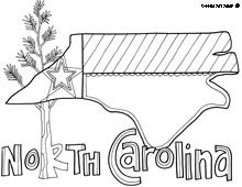 north carolina coloring page site has coloring pages for all states