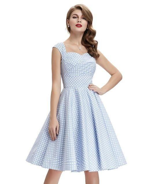 cf8a0b3b36496 Summer Dress 2017 Audrey Hepburn Vestidos Plus Size Floral Retro ...