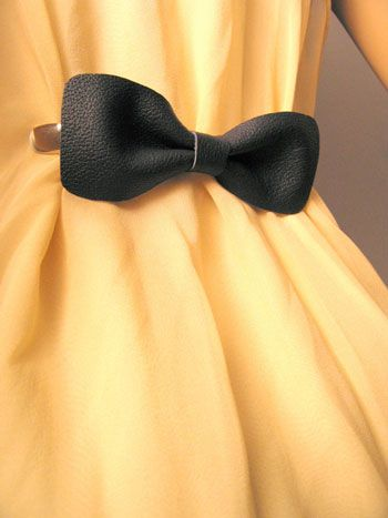 Bow Tie Dress Clip. how cute
