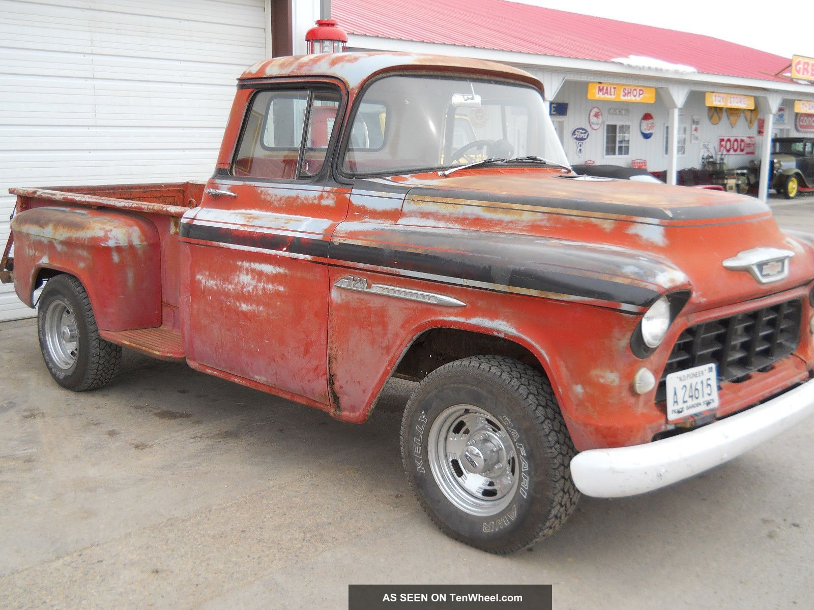 1955 chevy truck 1955 chevy truck rod rat rod 350 v8 3 speed manual daily