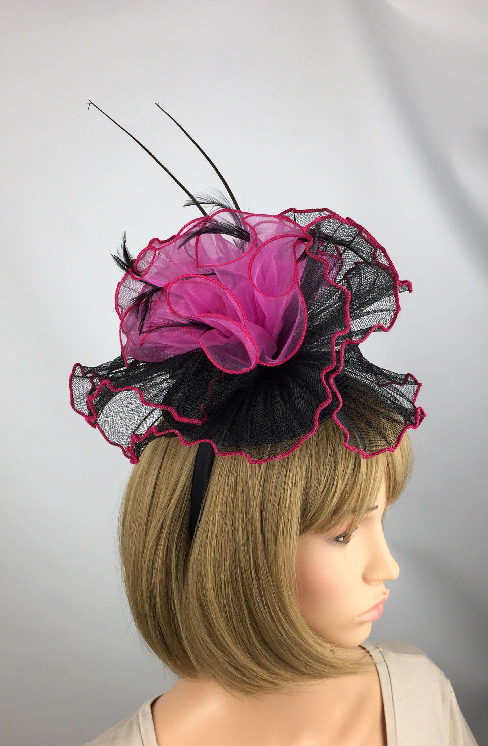Excited to share the latest addition to my  etsy shop  Pink And Black  Fascinator e928ecce646