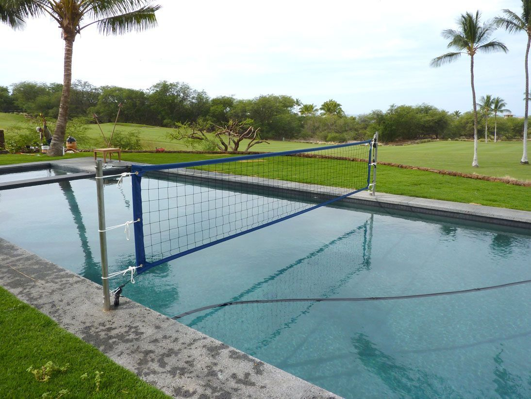 In Ground Pool Volleyball Nets Pool Volleyball Net Pool Patio Designs Pool