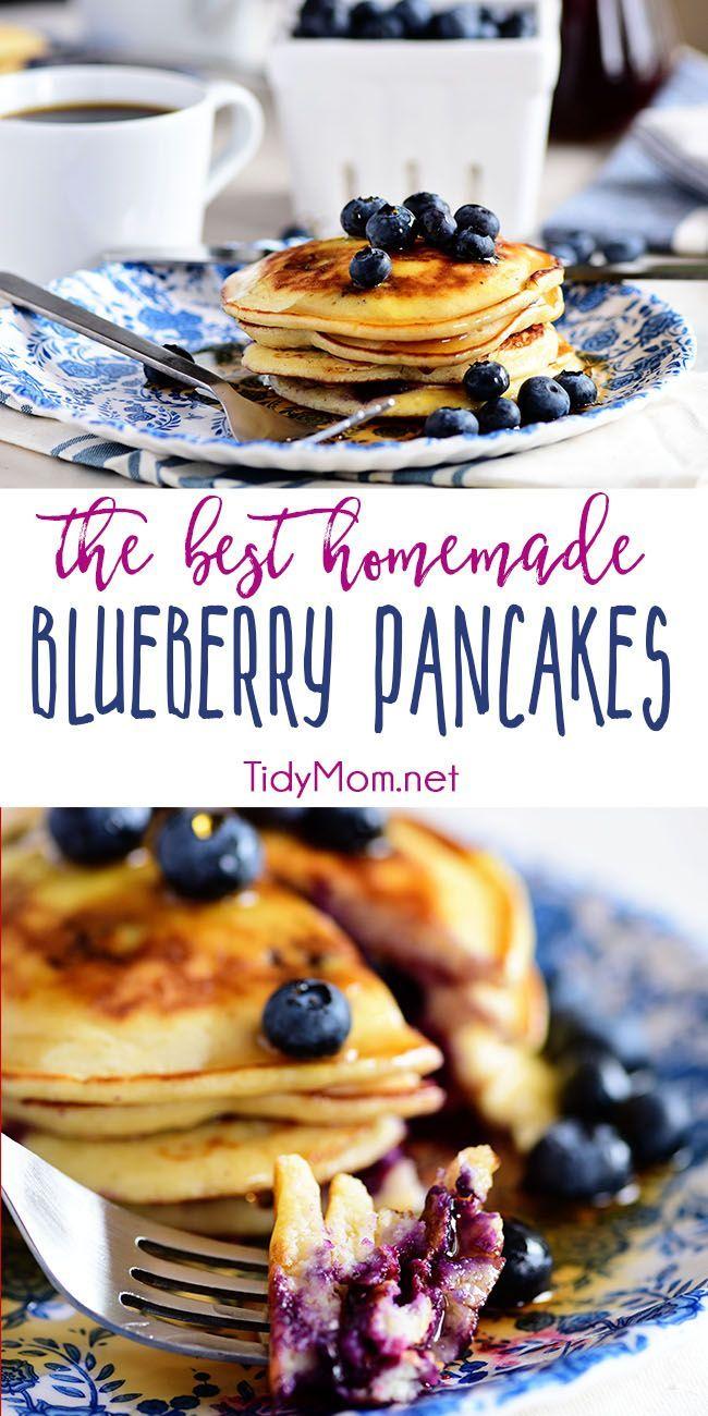 The BEST Homemade Blueberry Pancakes #essentrinken