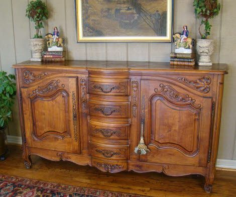 Antique furniture. antique french sideboard   Antique FRENCH COUNTRY Buffet LOUIS XV
