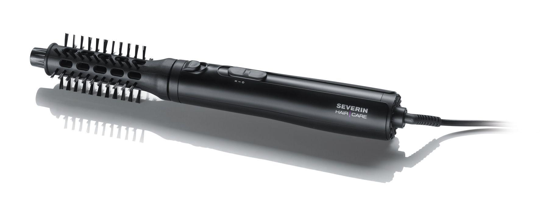 Rizador con aire caliente, negro Ref. 0809  300 Watios  Conector con dos velocidades y posiciones  Accesorio (25.4 mm de diámetro) sintético de cerdas suaves  Accesorio ( 20 mm diámetro) sintético con cerdas duras  Liberación automática del rizo al toque de un botón que ayuda a la liberación de los cabellos.  cable de alimentación con articulación giratoria para evitar daños en el mismo  Unidad de embalaje de 12 pcs. EAN 4008146003967