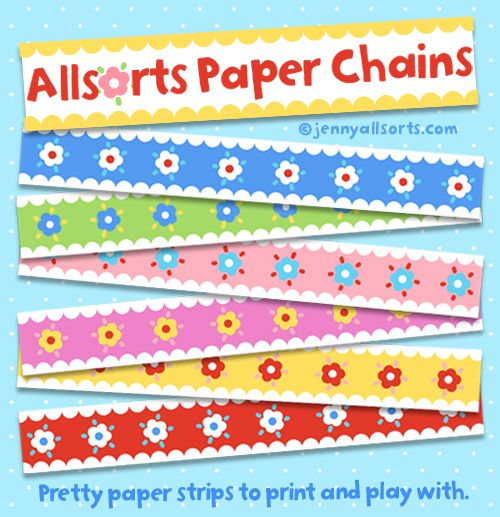 Pretty paper chains to print and play with - allsorts