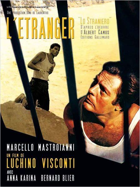 """L'étranger"" de Luchino Visconti avec Anna Karina, Marcello Mastroïanni, Bernard Blier. Italie. 1967."