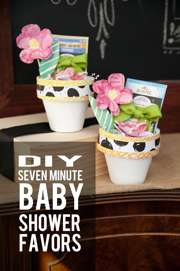 Make A Cute Flower Pot Seed Packet Baby Shower Favor In This Quick Tutorial  With Four