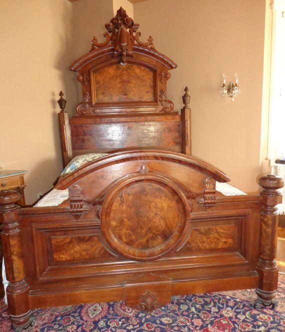 Antique victorian renaissance revival 1850 1880 by - Vintage bedroom furniture for sale ...