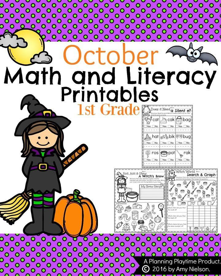 October First Grade Worksheets | Erste klasse und Klasse