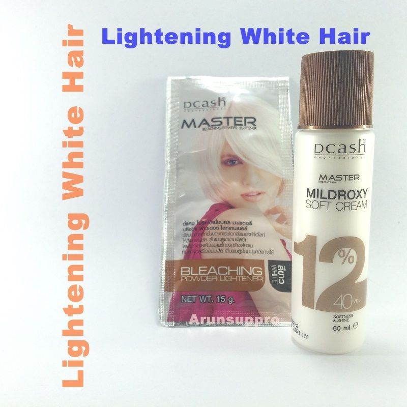 DCASH White Color Lightener Hair Bleaching Dye Lightening Powder Bleach Kit #Dcash