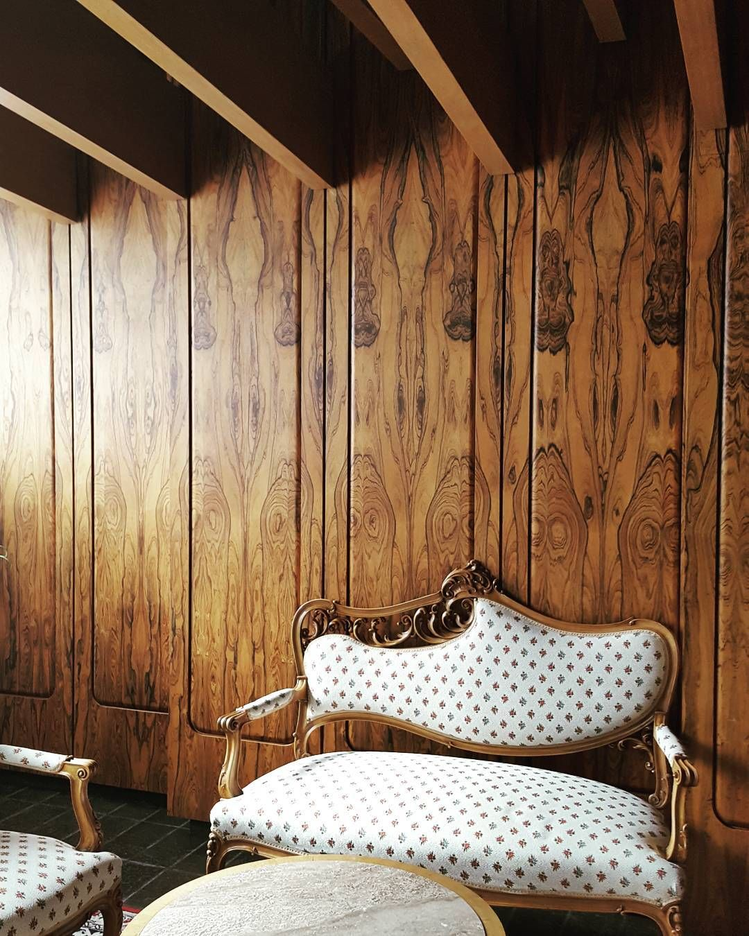 """Rich Wood Panelled Rooms: Kath On Instagram: """"Wood-panelled Meeting Room At The"""