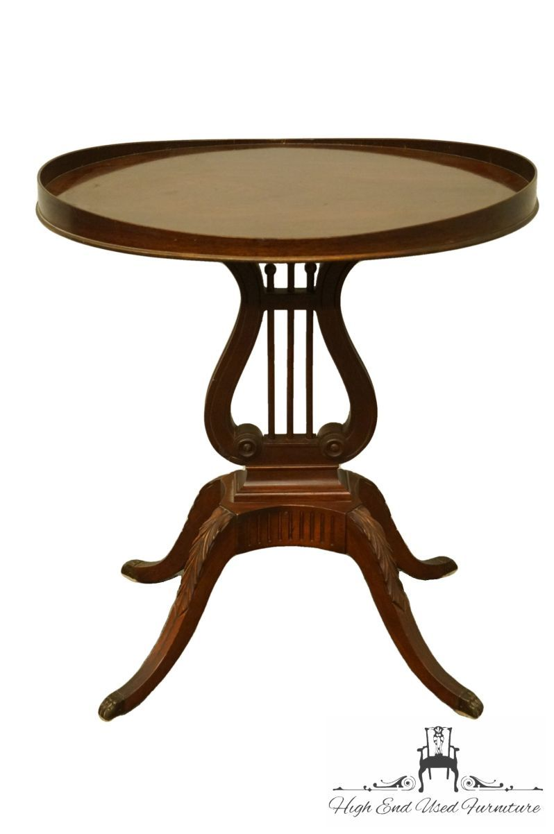 Mersman Furniture Traditional Table Harp Base 25 Accent Gueridon End Table High End Used Furniture In 2020 Traditional Table Mahogany Table End Tables