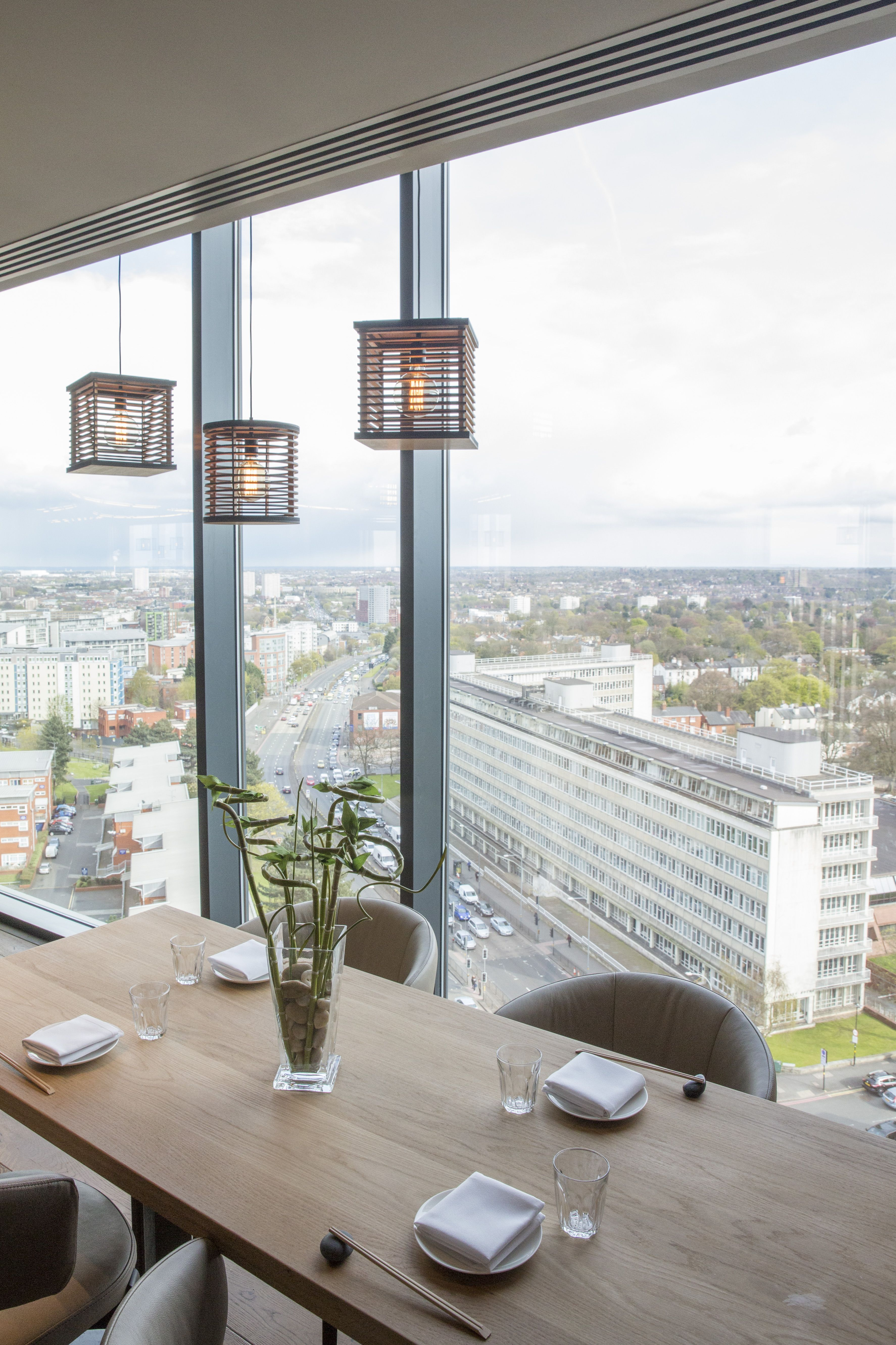 ambiance interior design. Plain Ambiance Sky Restaurant With Views Over Birmingham Japanese Inspired A  Contemporary Ambiance Interior Design Intended Ambiance N