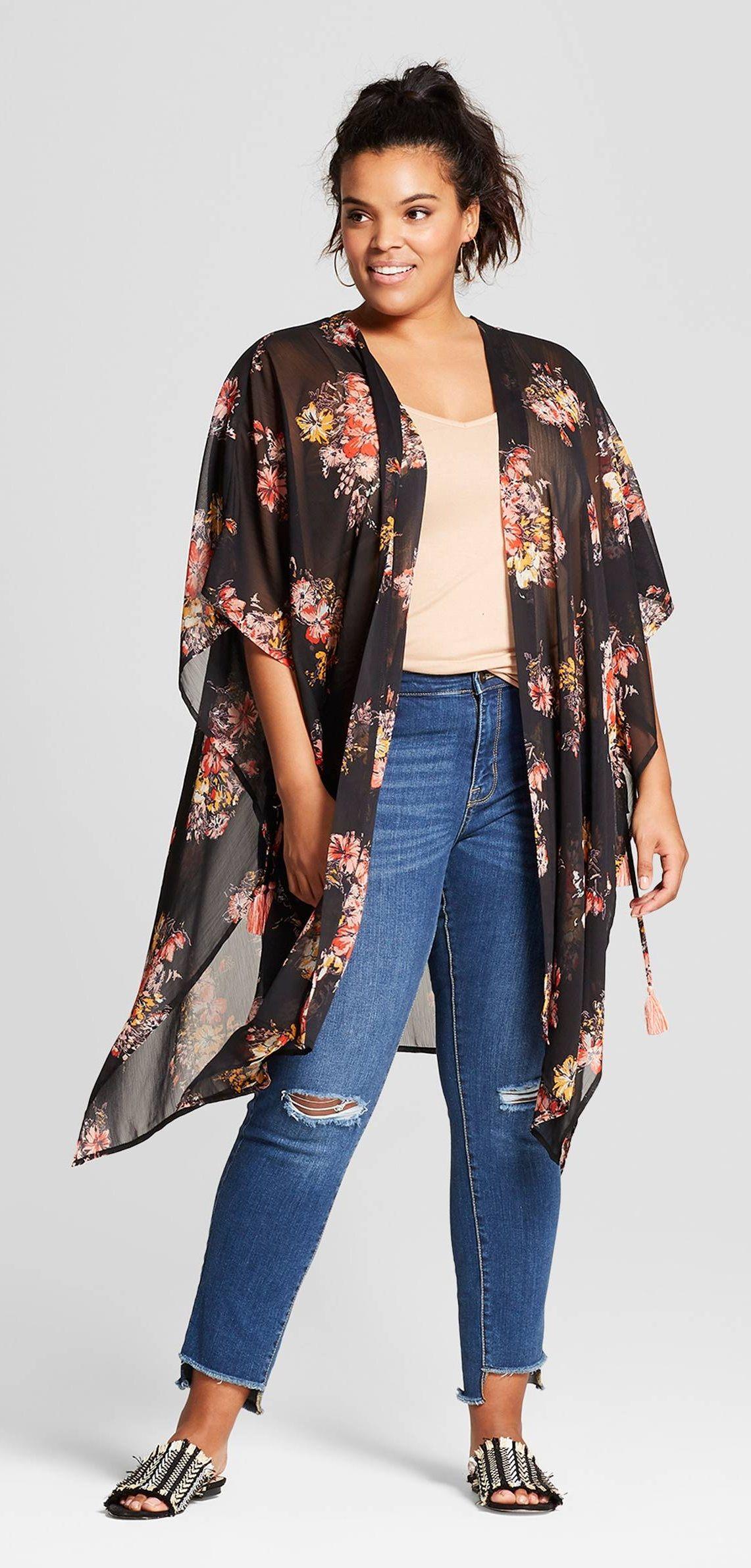 9b0c09c3 Plus Size Kimono | Moda | Moda para gorditas, Moda de mujeres ...