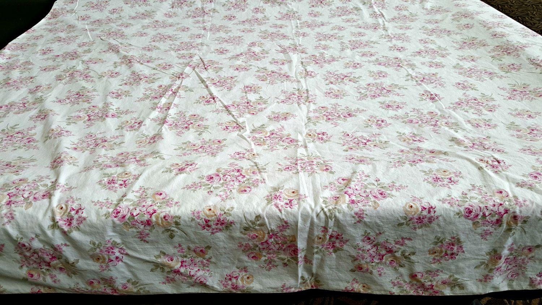 Simply Shabby Chic Rose bud vintage crisp percale 100/% cotton Cottage Sheet Set