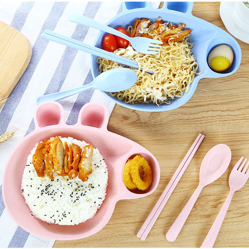 Cartoon Peppa Pig Baby Dinner Table Flatware Set Plastic Dinner Plate Bowl Feeding Dishes Tray Kids  sc 1 st  Pinterest & Peppa Pig Plastic Plate Bowl Dinnerware Kids Cutlery Set | Kitchen ...