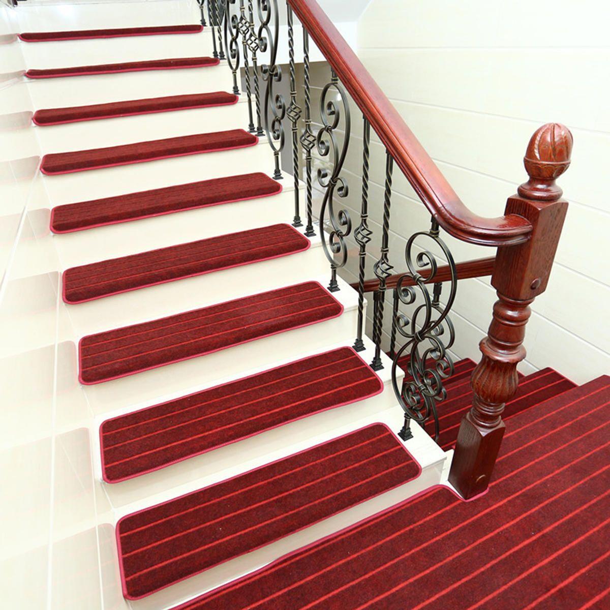 Best 14Pcs Stair Tread Carpet Mats Step Staircase Non Slip Mat 640 x 480