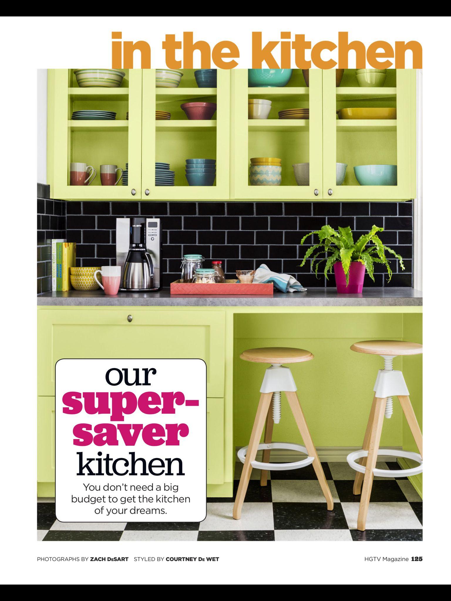 Our super saver kitchen from hgtv magazine june 2017 - Best kitchen design app ...