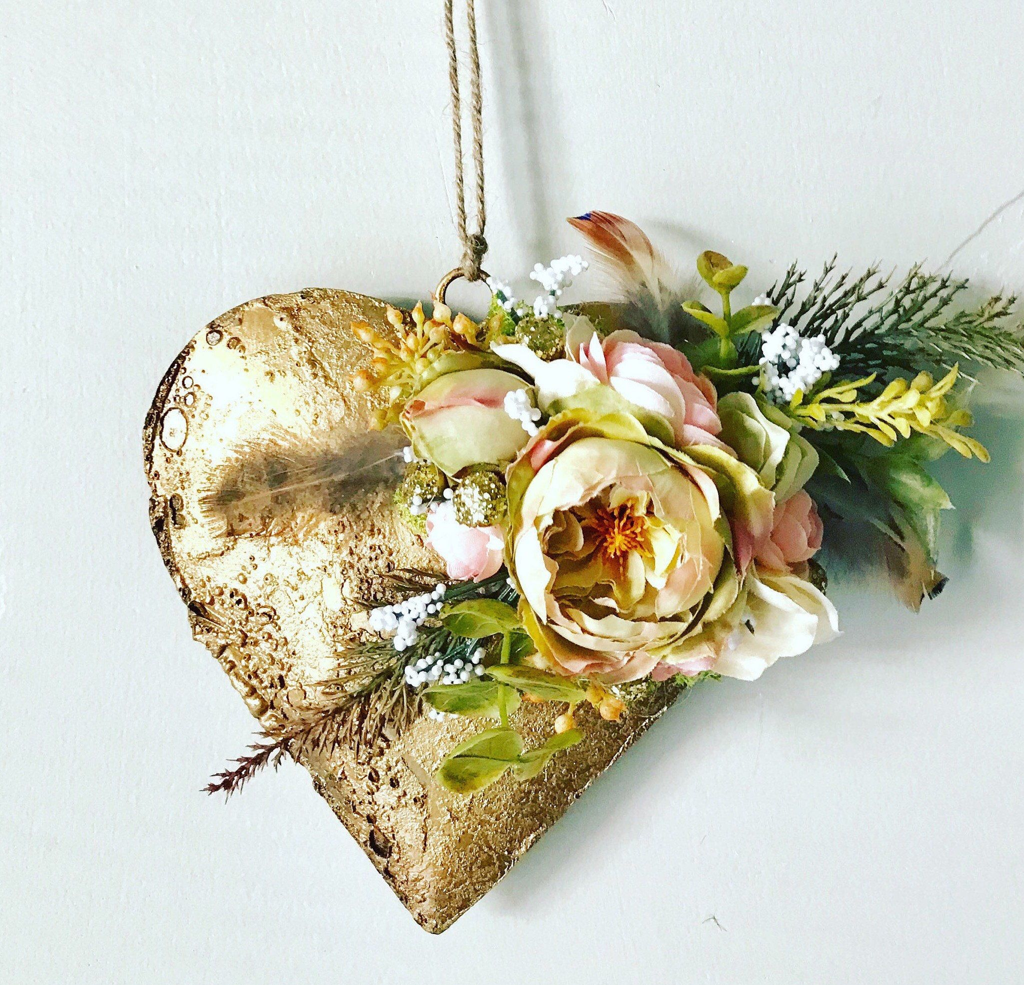 BoHo metal Heart wall Decor/Christmas decor/ baby shower/ party ...